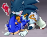 anal anal_penetration anthro blush cum dialogue duo hedgehog japanese_text male male/male mammal open_mouth penetration penis selfcest sex shoppaaaa sonic_(series) sonic_the_hedgehog sonic_the_werehog square_crossover sweat tears text translation_request werehog  Rating: Explicit Score: 9 User: TheTrueLiamay Date: August 11, 2014""