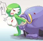 2013 ambiguous_gender anthro blue_body blueberry_(artist) blush breasts drooling duo female gardevoir gradient_background green_hair hair hair_over_eye nintendo open_mouth pokémon red_eyes saliva soft_vore swalot teeth video_games vore white_body   Rating: Questionable  Score: 2  User: Granberia  Date: January 27, 2015