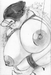 2015 anthro areola bdsm big_breasts breasts canine cocolog erect_nipples female hair japanese kemono long_hair mammal monochrome navel nipples roko_(cocolog) sketch solo wolf  Rating: Explicit Score: 2 User: GONE_FOREVER Date: August 10, 2015