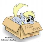 2015 animated box cardboard_box cutie_mark derp_eyes derpy_hooves_(mlp) eating english_text equine female friendship_is_magic hair mammal my_little_pony pegasus plain_background sleufoot solo ta-na text white_hair wings yellow_eyes   Rating: Safe  Score: 24  User: Robinebra  Date: May 09, 2015