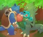 2015 absurd_res anal anal_penetration anthro argon_vile balls blastoise blush cum cum_from_ass cum_in_ass cum_inside feral group hi_res ivysaur male male/male naughty_face nintendo penetration penis pokémon questionable_consent size_difference tyranitar video_games  Rating: Explicit Score: 21 User: Sneaky Date: October 22, 2015