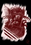 2017 3_toes absurd_res ambiguous_gender black_background creepy digital_media_(artwork) feral fur hi_res mammal nintendo open_mouth pokémon rat raticate rodent simple_background sketch solo teeth toes unknown_artist video_games whiskers