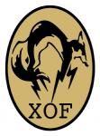 canid canine emblem english_text feral fox full-length_portrait konami logo mammal metal_gear official_art patch_(fabric) portrait side_view simple_background solo text unknown_artist video_games white_background