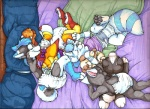 anthro bed blue_ferret canine cub cuddling cute diaper dog eyes_closed fox group husky infantilism kalida kalida_(character) kwaii male mammal paws plushie silkenpaws size_difference sleeping stripes toya_pup traditional_media_(artwork) wolf young  Rating: Safe Score: 4 User: baracudaboy Date: September 20, 2010