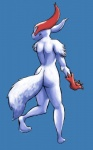 2012 ambiguous_gender anon0 butt nintendo nude pokémon rear_view simple_background solo standing video_games zangoose  Rating: Safe Score: 3 User: somnusmg Date: March 09, 2012