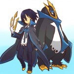 blue_hair cosplay duo empoleon feral hair hitec human male mammal moemon nintendo pokémon short_hair video_games  Rating: Safe Score: 0 User: Kitsu~ Date: July 04, 2009