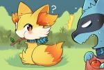 ambiguous_gender angry blush canine colored cub duo fennekin feral fox fur mammal nintendo pokémon pokémon_mystery_dungeon riolu surprise sweat toraneko38_(artist) video_games yellow_fur young  Rating: Safe Score: 7 User: satoshi666 Date: October 08, 2015
