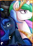2015 changeling equine female feral friendship_is_magic horn mammal my_little_pony princess_celestia_(mlp) princess_luna_(mlp) vavacung winged_unicorn wings   Rating: Safe  Score: 7  User: Robinebra  Date: February 14, 2015