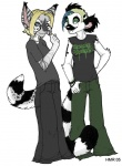 2005 anthro blonde_hair clothing duo female hair lemur mammal pants primate shirt simple_background tomboy white_background zeriara zeriara_(character)  Rating: Safe Score: 0 User: Riversyde Date: October 06, 2010