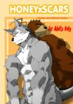 abs anthro bear biceps big_muscles black_eyes black_nose brown_fur butt canine comic dialogue duo english_text facial_markings fur grey_fur grizzly_bear hair honey_x_scars interspecies juuichi_mikazuki looking_back male mammal markings morenatsu muscles nipples nude pecs pose scar sitting ten_kodori text toned toratora wolf yellow_eyes   Rating: Questionable  Score: 5  User: BlackBoltEX  Date: September 13, 2013