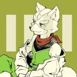 anthro black_nose canid canine clothing fox fox_mccloud green_eyes kemono male mammal nintendo s_mino930 solo star_fox video_gamesRating: SafeScore: 3User: Cane751Date: January 07, 2018