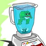amphibian anthro blender_(object) countershade_face countershade_torso countershading edit feet frog green_skin joe_cartoon looking_at_viewer male meme multicolored_skin pepe_the_frog simple_background smile solo two_tone_skin unknown_artist water what white_skin
