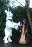 anthro beastcub duo equine female feral fursuit hooves horn human mammal mask quadsuit real unicorn  Rating: Questionable Score: 0 User: msc Date: March 31, 2009""
