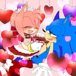 2016 <3 amy_rose anthro blush boots candy chocolate clothing dress duo eyes_closed female food footwear gloves green_eyes hair headband hedgehog holidays male mammal pink_hair solo sonic_(series) sonic_the_hedgehog valentine's_day くま  Rating: Safe Score: 0 User: Cαnε751 Date: February 14, 2016