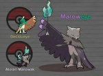 arrow decidueye feather_fingers feral fire fusion group marowak nintendo pokefusionman pokémon skull video_games