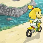 animal_crossing anthro blush canine dog female isabelle_(animal_crossing) looking_back mammal mario_bros mario_kart motorcycle nintendo shih_tzu solo unknown_artist video_games  Rating: Safe Score: 6 User: Juni221 Date: September 08, 2014