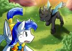 changeling crying digital_media_(artwork) duo equine fan_character female horn horse male mammal my_little_pony pony tears vavacung wings  Rating: Safe Score: 10 User: Alex456po Date: October 04, 2015