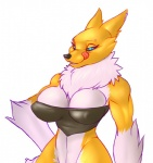 breasts digimon female looking_at_viewer renamon smile thunder-renamon tongue tongue_out  Rating: Safe Score: 15 User: snowblind Date: August 26, 2015