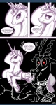 <3 ask_princess_molestia bdsm bondage bound chain collar comic crown discord_(mlp) draconequus duo equine feathered_wings feathers female feral friendship_is_magic hair hi_res horn john_joseco long_hair male mammal my_little_pony princess_celestia_(mlp) red_eyes tiara winged_unicorn wings  Rating: Safe Score: 9 User: Dogenzaka Date: October 10, 2011