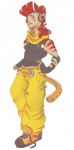 alternate_species athletic baggy_pants beelzemon_(artist) clothing gaël_the_scrafty gijinka headphones human humanized male mammal markings mohawk solo torn_clothing  Rating: Safe Score: 0 User: Circeus Date: April 19, 2015