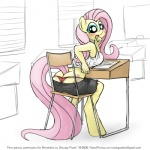 anthro anthrofied blush butt clothed clothing equine female fluttershy_(mlp) friendship_is_magic horse looking_at_viewer mammal my_little_pony panties pony sitting sketch skimpy smudge_proof solo thong underwear   Rating: Questionable  Score: 15  User: Smudge_Proof  Date: August 16, 2014