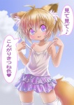 animal_ears canine clothing cub female fox fox_ears fox_tail loli mammal renaoka skirt solo translated young  Rating: Questionable Score: 8 User: Crusman Date: June 28, 2015""