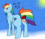 2015 aetherouranos anal anal_penetration butt cum cum_in_ass cum_in_pussy cum_inside cutie_mark equine female friendship_is_magic horse looking_at_viewer mammal multicolored_tail my_little_pony penetration penis pony pussy rainbow_dash_(mlp) rainbow_tail sex simple_background vaginal vaginal_penetration  Rating: Explicit Score: 5 User: AetherOuranos Date: December 20, 2015