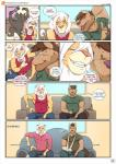 2016 age_difference alcohol anthro armpits bastian_(leobo) beer beverage biceps big_muscles blue_eyes brown_fur brown_hair canine close-up clothed clothing comic dialogue digital_media_(artwork) duo english_text evil_grin eyes_closed feline food front_view fur green_eyes grin hair hi_res inside leobo lion male mammal muscular patreon romeo_(leobo) shirt smile sofa speech_bubble sweat sweatdrop table tank_top teeth television text tongue tongue_out video_games white_hair  Rating: Safe Score: 6 User: xxroland Date: May 03, 2016