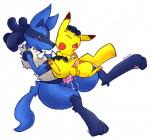 anal anal_penetration balls big_dom_small_sub blush cum cum_inside dog_tags duo eyes_closed feral feral_on_feral interspecies knot lucario male male/male nintendo orgasm penetration penis pikachu pokémon red_eyes shugowah size_difference video_games   Rating: Explicit  Score: 21  User: TheTrueLiamay  Date: July 27, 2014