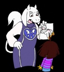 2015 ambiguous_gender angry blush breasts brown_hair butt caprine clothing doodletank_(artist) drawing duo fangs female fire fur goat hair horn human long_ears mammal monster protagonist_(undertale) red_eyes robe smoke toriel undertale white_fur  Rating: Questionable Score: 10 User: SpectralDreams Date: October 01, 2015