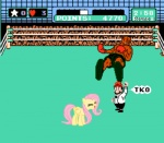 boxing clothing edit english_text equine eyes_closed female feral fluttershy_(mlp) friendship_is_magic hair hat horse knocked_out male mammal mario mario_bros mike_tyson my_little_pony nintendo pegasus pink_hair pony punch_out screencap text unknown_artist video_games wings   Rating: Safe  Score: 2  User: Blackbewhite2k7  Date: June 19, 2013
