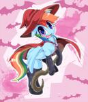 avoid_posting bat blue_fur blush cape clothing conditional_dnp costume equine female feral friendship_is_magic fur hair halloween hat holidays legwear mammal multicolored_hair my_little_pony oze pegasus purple_eyes rainbow_dash_(mlp) rainbow_hair solo stockings wings witch_hat  Rating: Safe Score: 22 User: DragonRanger Date: October 31, 2014