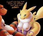 alpha_channel anthro awkward breasts canine chode digimon domination duo embarrassed female female_domination fox guilmon humiliation male mammal nipples penis renamon scalie shy simple_background small_penis small_penis_humiliation text uncut unknown_artist  Rating: Explicit Score: 7 User: B_Wings Date: May 03, 2016