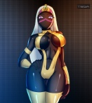 alien black_skin breasts camel_toe cleavage clothed clothing duck_dodgers female hair purple_eyes queen_tyr'ahnee skimpy solo standing teqa white_hair wide_hips   Rating: Questionable  Score: 36  User: TheHuskyK9  Date: April 08, 2013