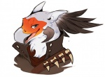 anthro avian bird black_feathers bust_portrait clothed clothing feathers grey_eyes guild_wars hoot icon looking_at_viewer male portrait quiver_silvertongue secretary_bird simple_background smile solo tengu video_games white_background white_feathersRating: SafeScore: 38User: SadPandaInSnowDate: June 20, 2016