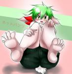 2014 5_fingers 5_toes ambiguous_gender anthro black_nose blush chest_tuft fur geiru_mirua green_hair hair japanese_text legendary_pokémon looking_at_viewer nintendo open_mouth pokémon shaymin solo text toes tongue translation_request tuft video_games white_body yellow_eyes   Rating: Safe  Score: 2  User: Finchmaster  Date: February 10, 2014