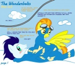 2011 blue_fur blush bodysuit clothing comic english_text equine erection eyewear female feral friendship_is_magic fur goggles hair male mammal multicolored_hair my_little_pony pegasus penis skinsuit soarin_(mlp) spitfire_(mlp) taharon text wing_boner wings wonderbolts_(mlp)   Rating: Questionable  Score: 4  User: gaunt0  Date: October 10, 2011