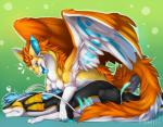 2015 ambiguous_gender bioluminescence dragon duo feral fur furred_dragon glowing hug lying scalie tartii tongue tongue_out wings  Rating: Safe Score: 15 User: h4x0r Date: July 22, 2015