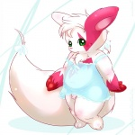 anthro big_tail clothed clothing crossdressing flaccid green_eyes male maverick nintendo penis pokémon solo source_request video_games zangoose  Rating: Explicit Score: 2 User: slyroon Date: March 09, 2012