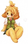 animal_crossing anthro blonde_hair blush brown_eyes canine clothing dog female fur hair isabelle_(animal_crossing) kemono looking_away mammal multicolored_fur nintendo solo two_tone_fur video_games wahitouppe white_fur yellow_fur  Rating: Safe Score: 8 User: KemonoLover96 Date: May 24, 2015""