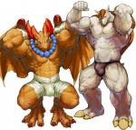 abs anthro arms_behind_head bandage biceps big_muscles breath_of_fire brown_scales brown_skin crouching dragon duo flexing front_view garr male muscles necklace nude pecs penis pockyrumz quads reptile scalie solo thick_penis toned wings   Rating: Questionable  Score: 13  User: oiuytrew  Date: February 25, 2015