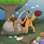 2015 anal anus balls buttplug canine duo ear_piercing easter easter_egg egg fennec fox hi_res holidays inflation jamie_(thethirdchild) jimmy_(thethirdchild) kangaroo male male/male mammal marsupial outside oviposition penis piercing rock sack sex_toy tree wastedtime  Rating: Explicit Score: 1 User: Kholchev Date: October 24, 2015