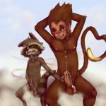 absurd_res animal_genitalia annoyed anthro armpits balls blush cloud cloudscape colored cum cum_on_chest cum_on_penis cum_on_self cumshot duo erection front_view fur furfit grin guardians_of_the_galaxy hair handjob hands_behind_head hi_res holding_penis humanoid_penis league_of_legends looking_away looking_to_side male male/male mammal masturbation monkey mutual_masturbation nipples nude on_cloud one_eye_closed open_mouth orgasm outside partially_retracted_foreskin penis penis_grab primate raccoon rocket_raccoon sheath signature sitting size_difference sky smile teeth tongue uncut video_games wukong   Rating: Explicit  Score: 8  User: Norse-Homo  Date: January 12, 2015