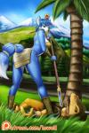 2017 anthro armor black_nose blue_fur blue_hair butt_pose canine clothing d-lowell dinosaur dipstick_tail duo english_text female fox fur grass green_eyes hair hair_ornament headband hi_res holding_object jewelry krystal lying male mammal markings mountain multicolored_tail nintendo on_back open_mouth outside patreon scalie sharp_teeth short_hair shoulder_pads staff star_fox tailband teeth text tongue tongue_out tree video_games weapon white_fur woundedRating: SafeScore: 1User: lemongrabDate: April 25, 2017