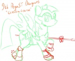 armor dragoon equid equine feathered_wings feathers female feral flakes friendship_is_magic green_and_white hasbro mammal melee_weapon military monochrome my_little_pony pegasi_guard_(mlp) pegasus polearm royal_guard_(mlp) simple_background solo spear weapon white_background wings