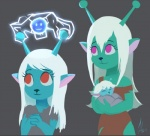 2017 alien antennae blue_body bue_(character) child cub daughter electricity emoji_(race) eyelashes eyes_closed family female green_body group hair hali_(character) loli mature_female mother mother_and_daughter parent purple_eyes raikoh-illust red_eyes samurai_jack smile smiley_face te_(character) white_hair youngRating: SafeScore: 13User: ROTHYDate: March 14, 2017