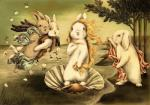 birth_of_venus blonde_hair flower forest group hair inspired_by_proper_art lagomorph looking_at_viewer mammal monochrome plant rabbit sepia traditional_media_(artwork) tree unknown_artist watercolor_(artwork)  Rating: Safe Score: 6 User: ktkr Date: August 08, 2015