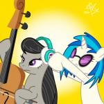 duo earth_pony equine female friendship_is_magic hair headphones horn horse instrument mammal my_little_pony octavia_(mlp) pony unicorn vinyl_scratch_(mlp)  Rating: Safe Score: 7 User: G0LDer Date: June 20, 2015""
