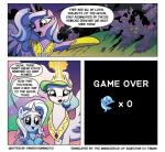 comic equine female feral friendship_is_magic fur game_over group hair horn mammal my_little_pony oh_shit open_mouth princess_celestia_(mlp) princess_luna_(mlp) text trixie winged_unicorn wings  Rating: Safe Score: 6 User: RebeccaShy Date: May 31, 2015""