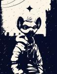 ambiguous_gender big_ears city clothed clothing hair hoodie hynik mammal monochrome nintendo outside pokémon pokémon_(species) portrait raining shinx solo standing star video_gamesRating: SafeScore: 5User: hslugsDate: November 04, 2017